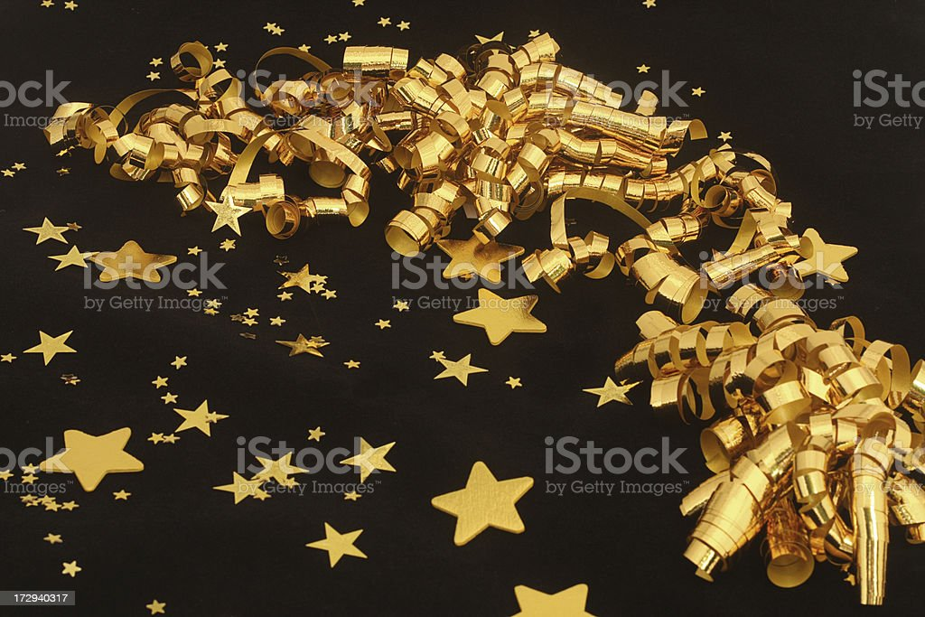 Black and Gold Party Background royalty-free stock photo