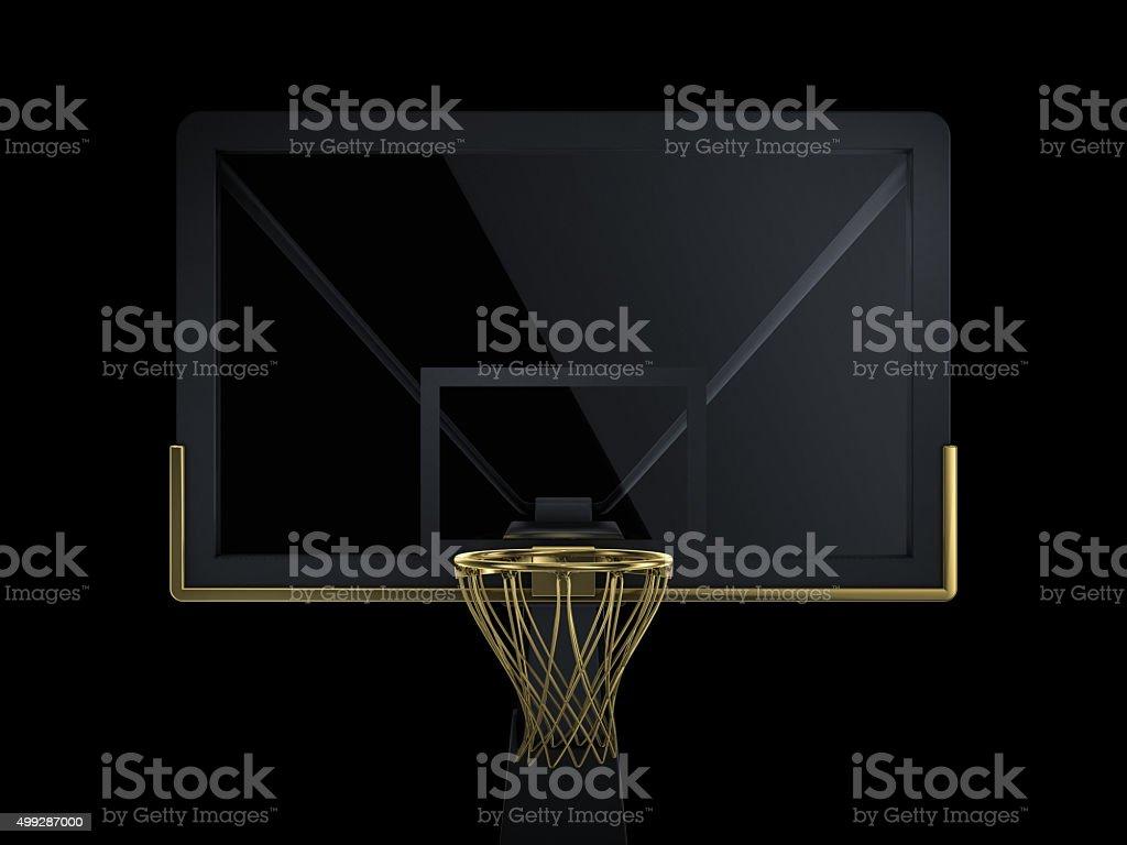 black and golden basketball backboard stock photo