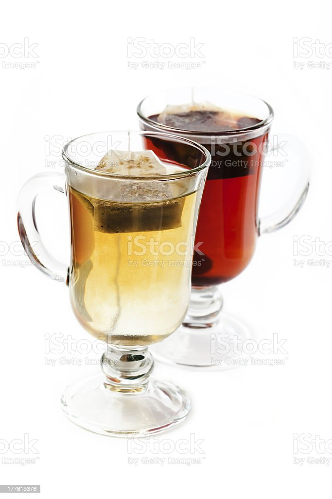 Black and herbal tea royalty-free stock photo