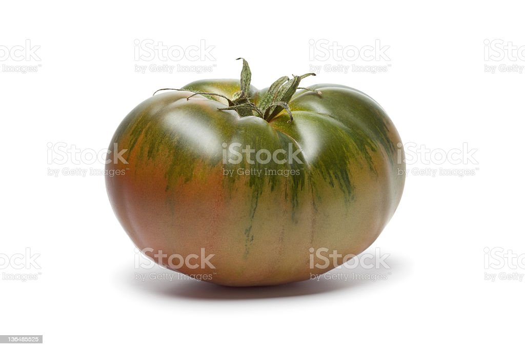 Black and red boar heirloom tomato royalty-free stock photo