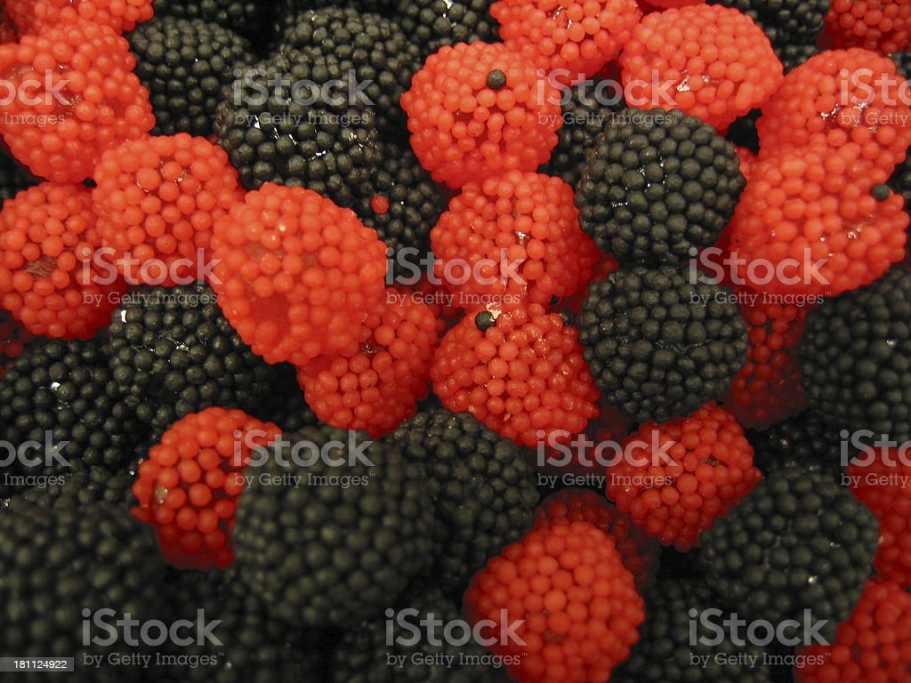 Black And Red Candy - Fruits royalty-free stock photo