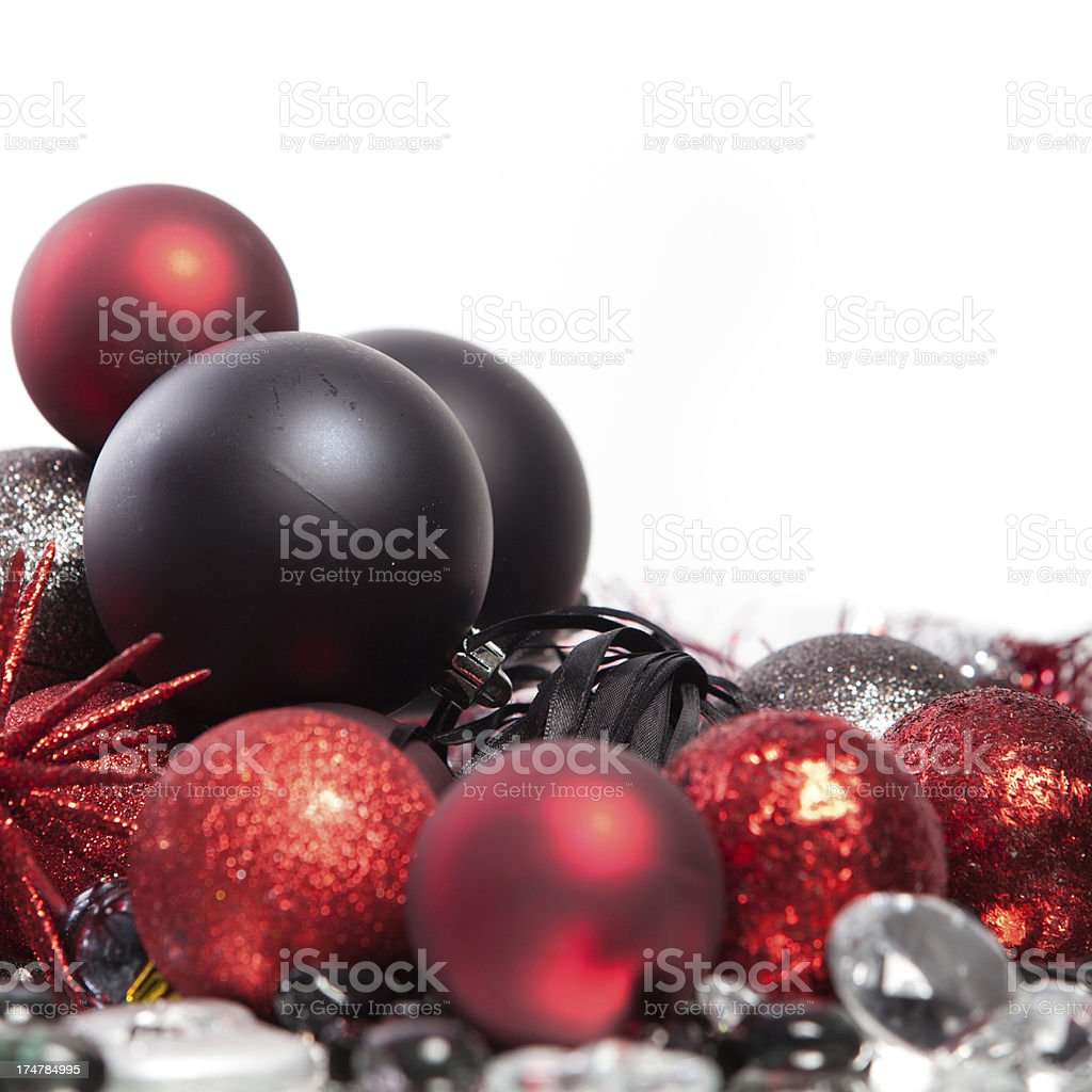 Black and red Christmas decoration royalty-free stock photo