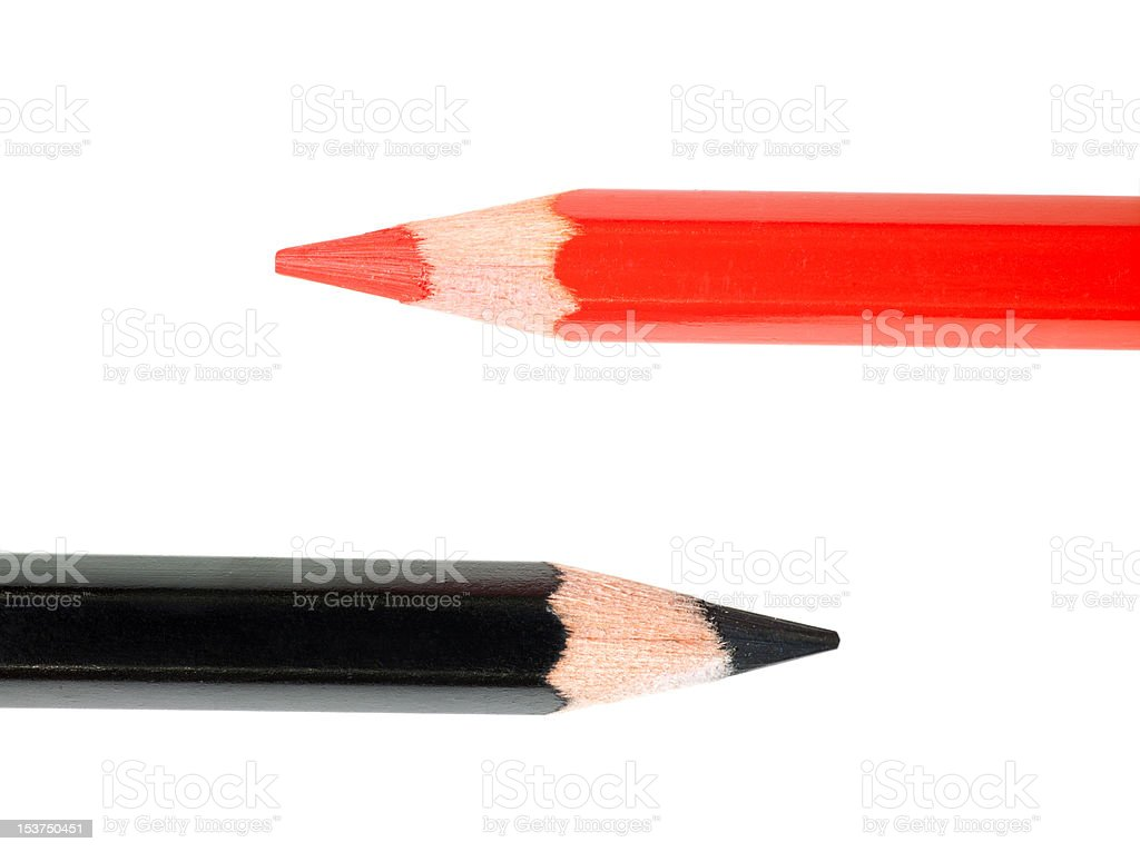 Black and red pencils. royalty-free stock photo