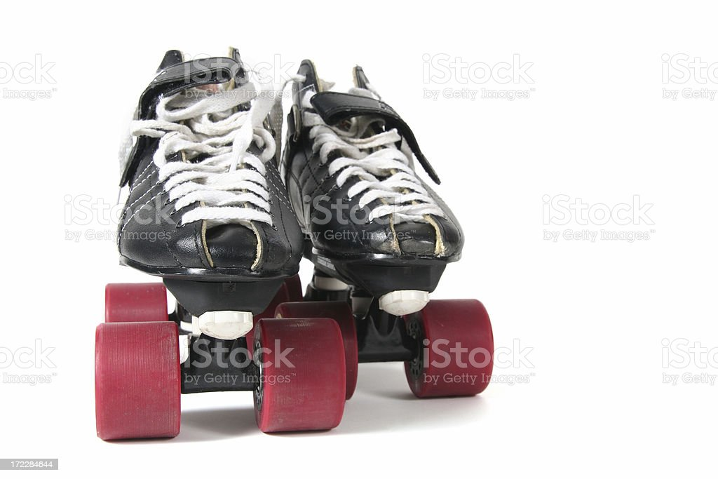 Black and Red Skates royalty-free stock photo