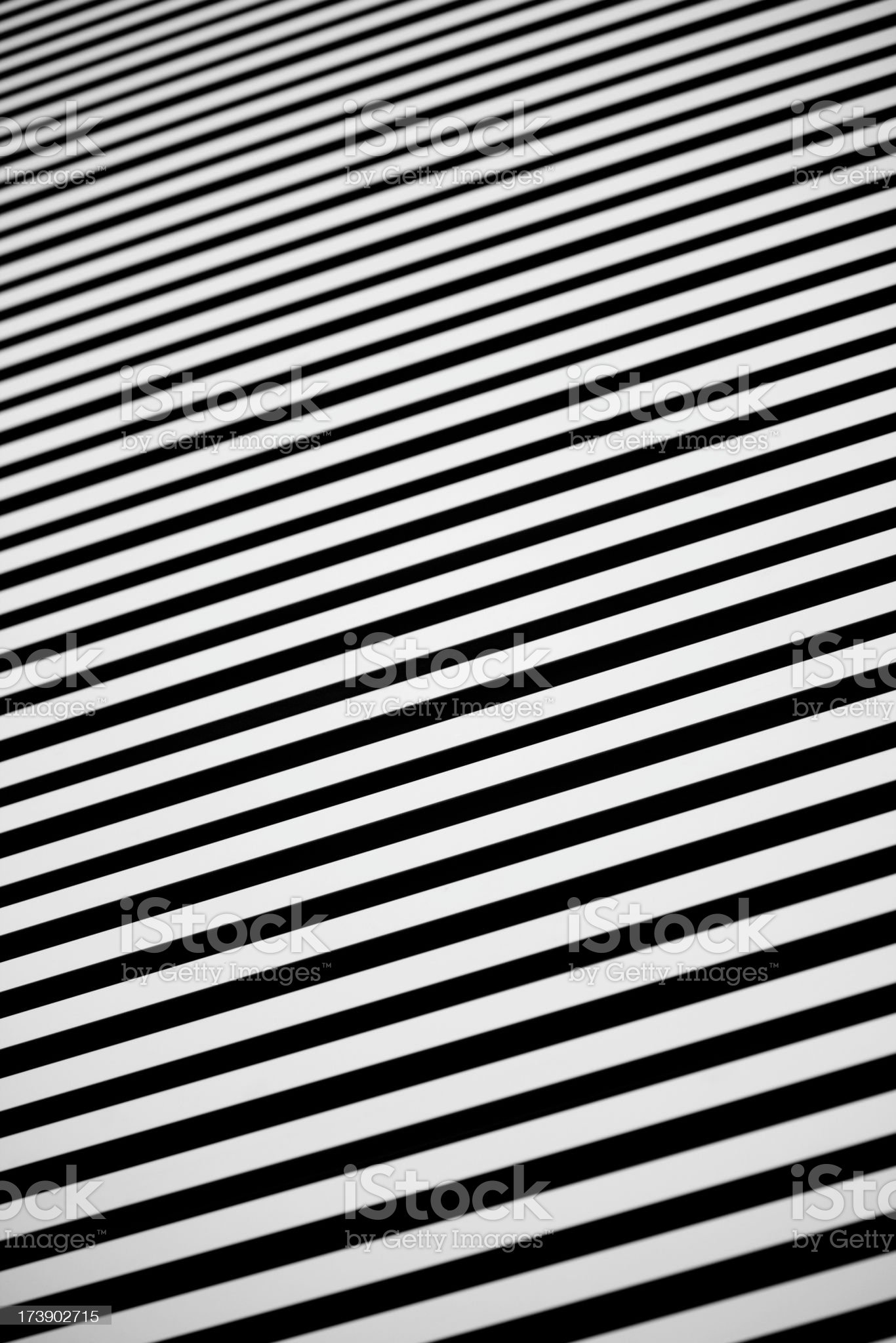 Black and White abstract metal wall slats as background, pattern royalty-free stock photo