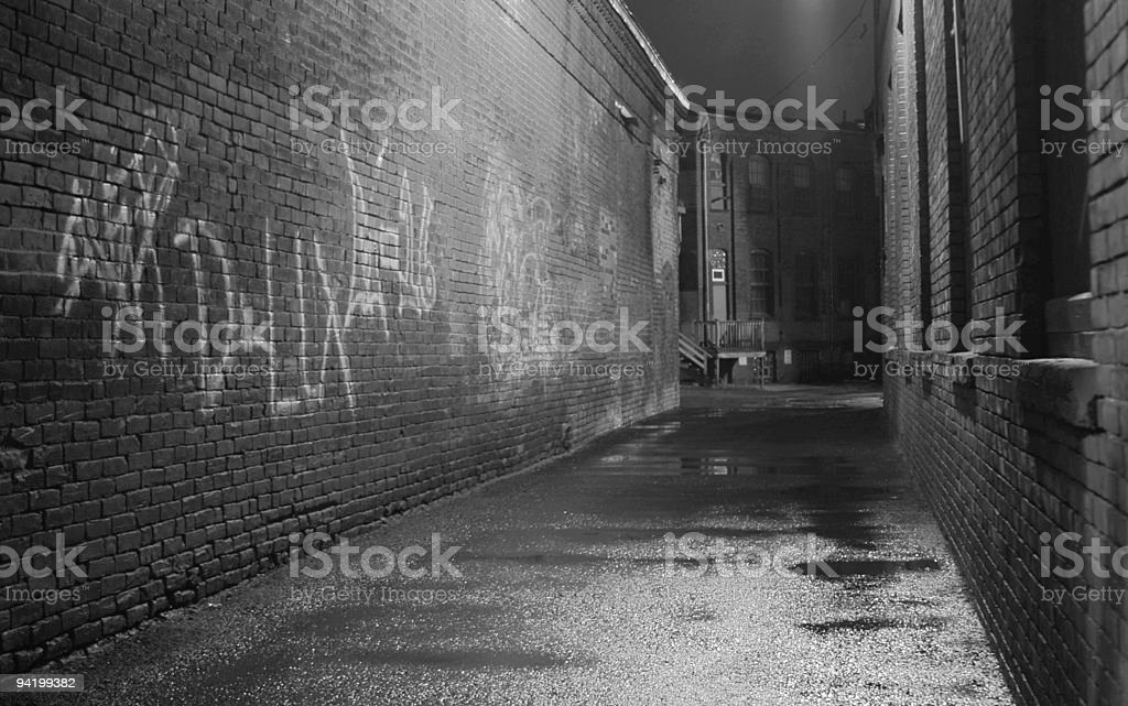 Black and White Alley royalty-free stock photo