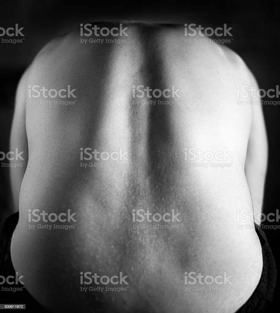 Black and white back stock photo