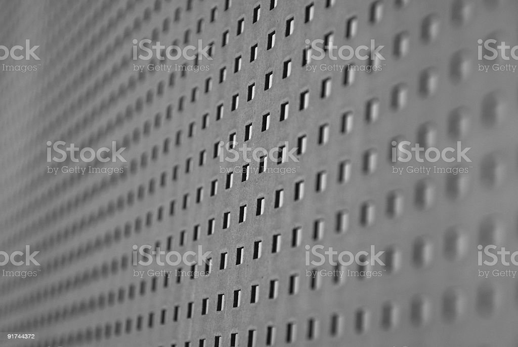 Black and White Background Metal Grid Pattern with Abstract Repetition royalty-free stock photo