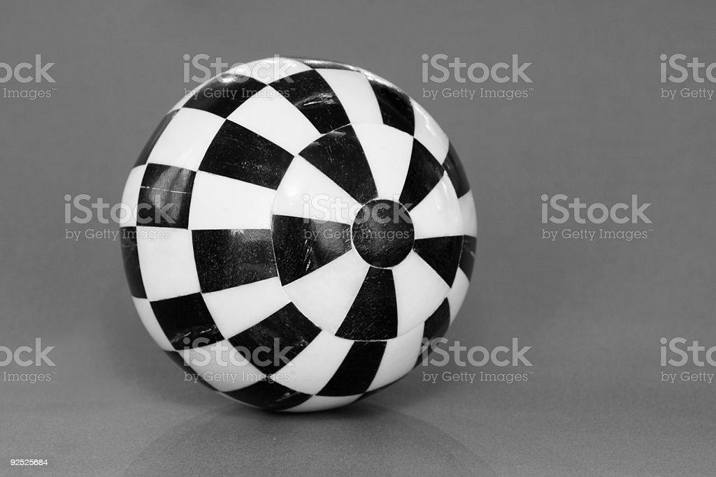 black and white ball stock photo