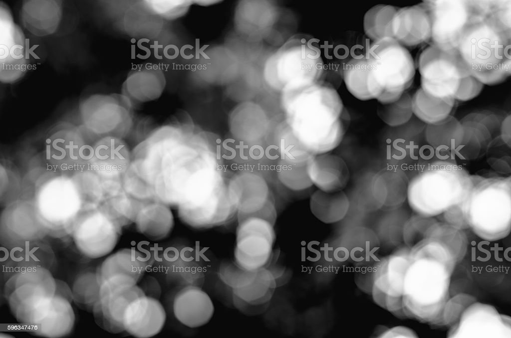 Black and white Bokeh background. Element of design stock photo