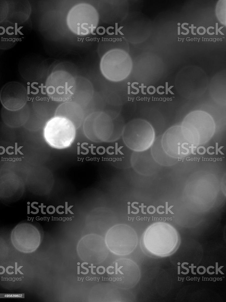 Black and White Bokeh Background stock photo
