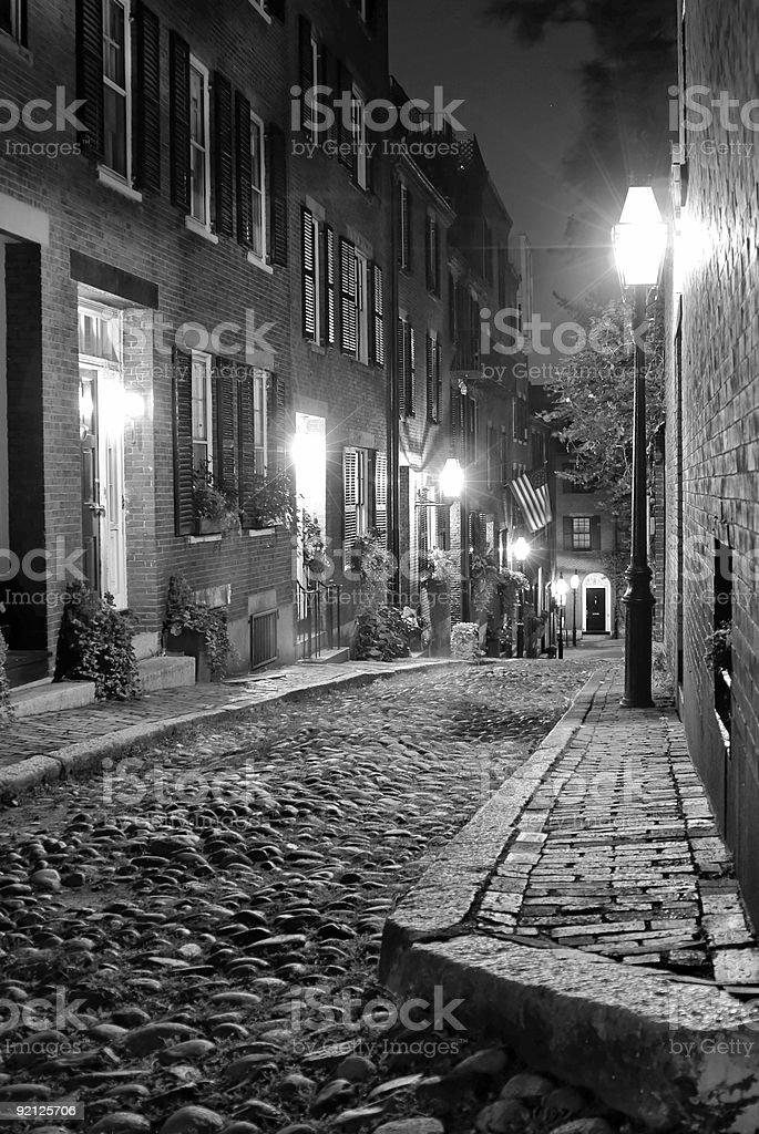 black and white boston royalty-free stock photo