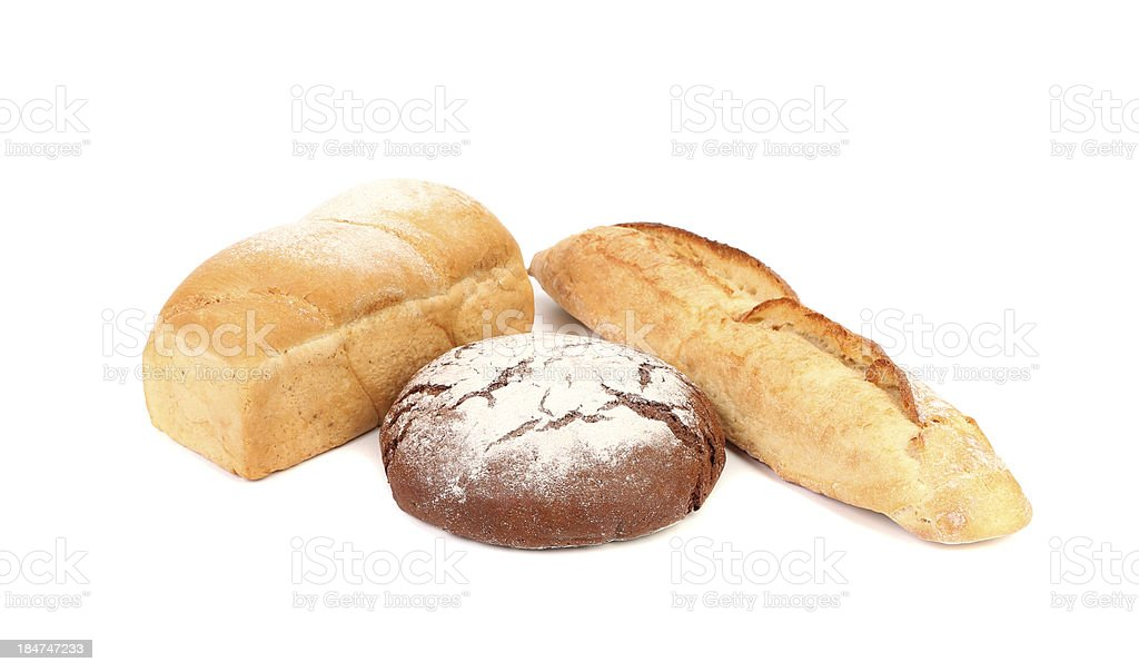 Black and white bread. royalty-free stock photo