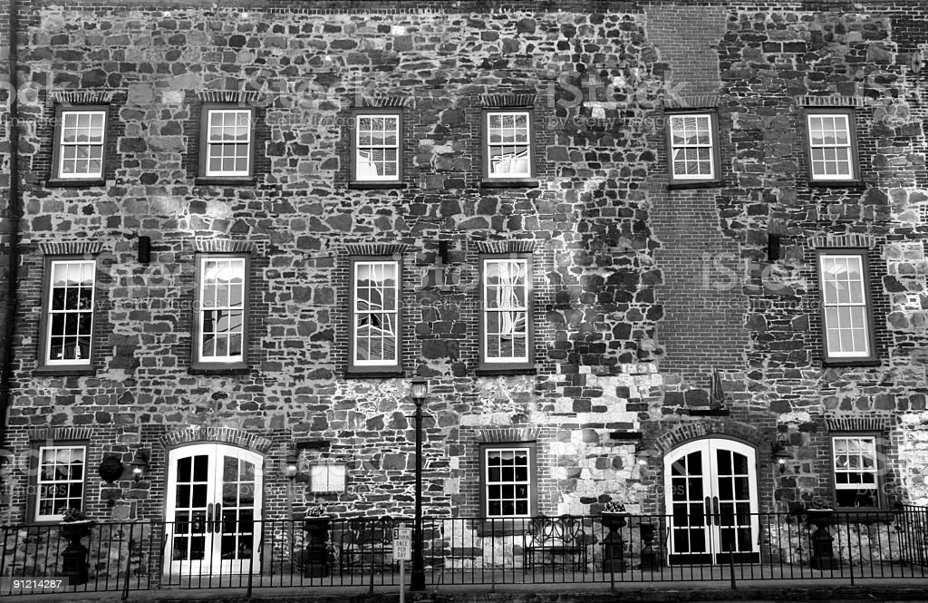 Black and white Brick Building in Savannah Georgia royalty-free stock photo