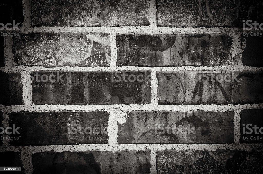 Black and white brick wall background. stock photo