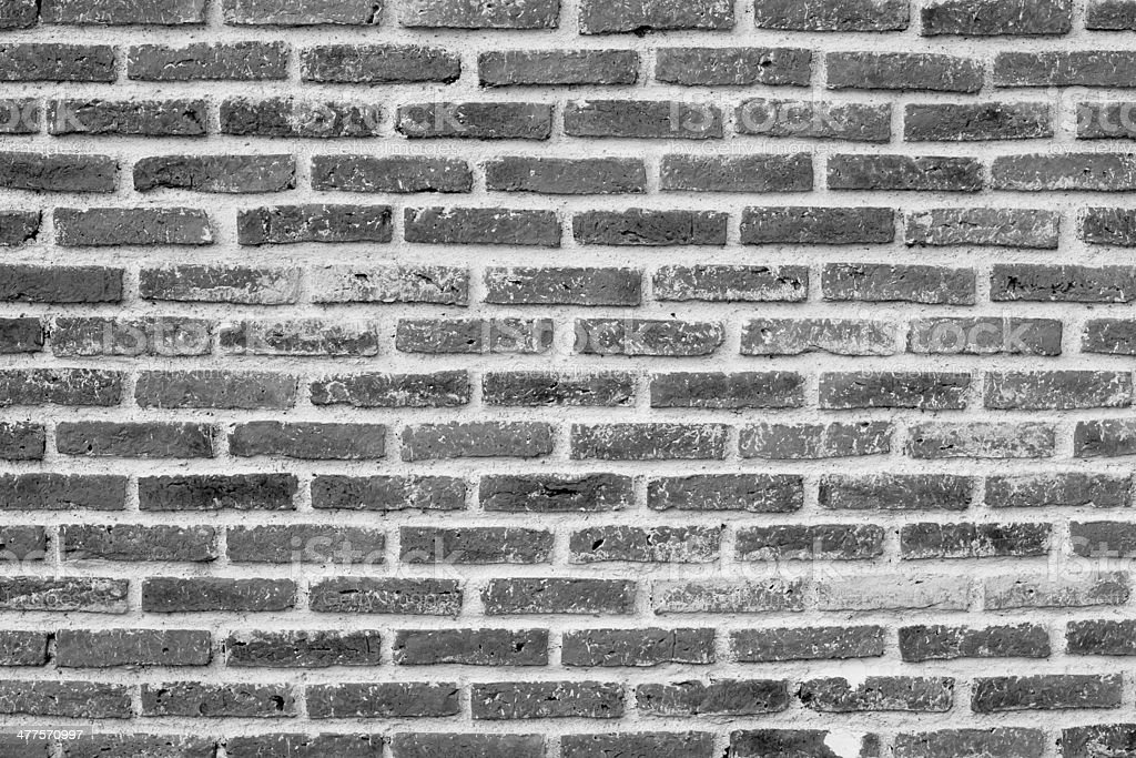 black and white brick wall royalty-free stock photo