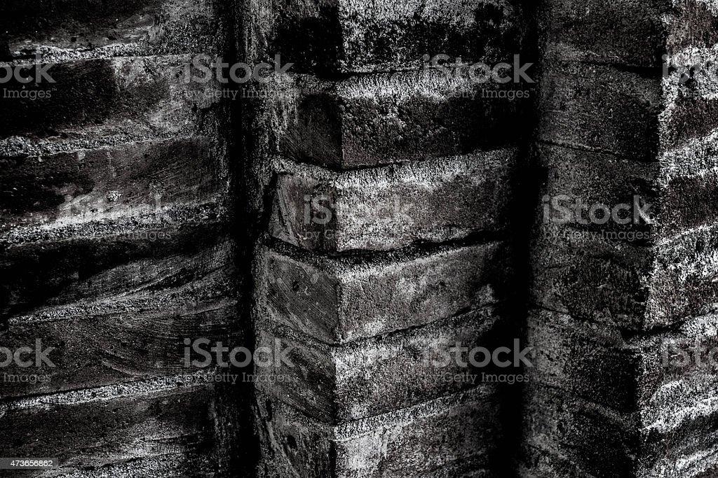 Black and white bricks stock photo