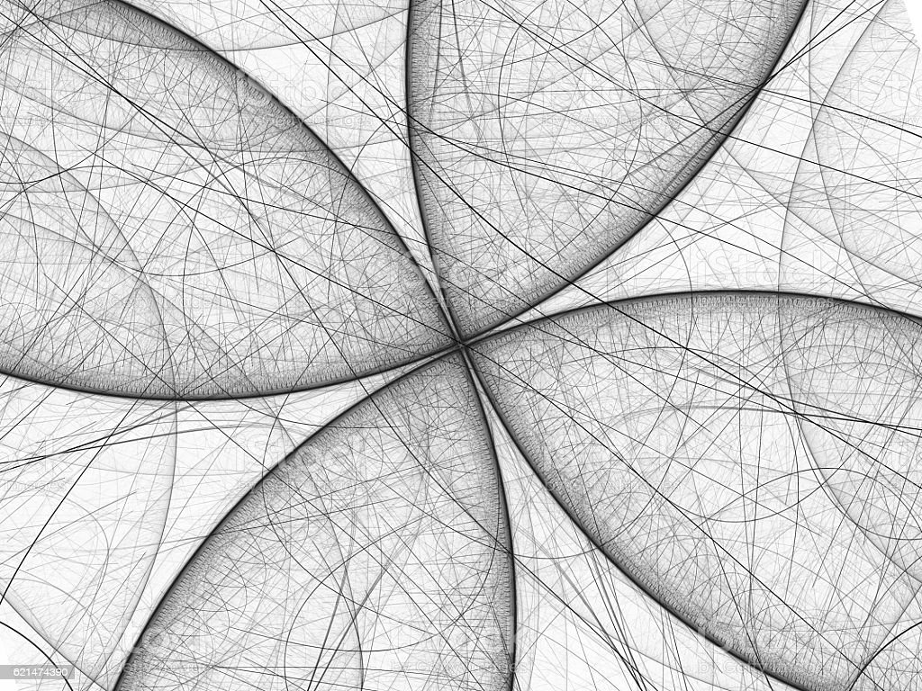 Black and white butterfly fractal stock photo