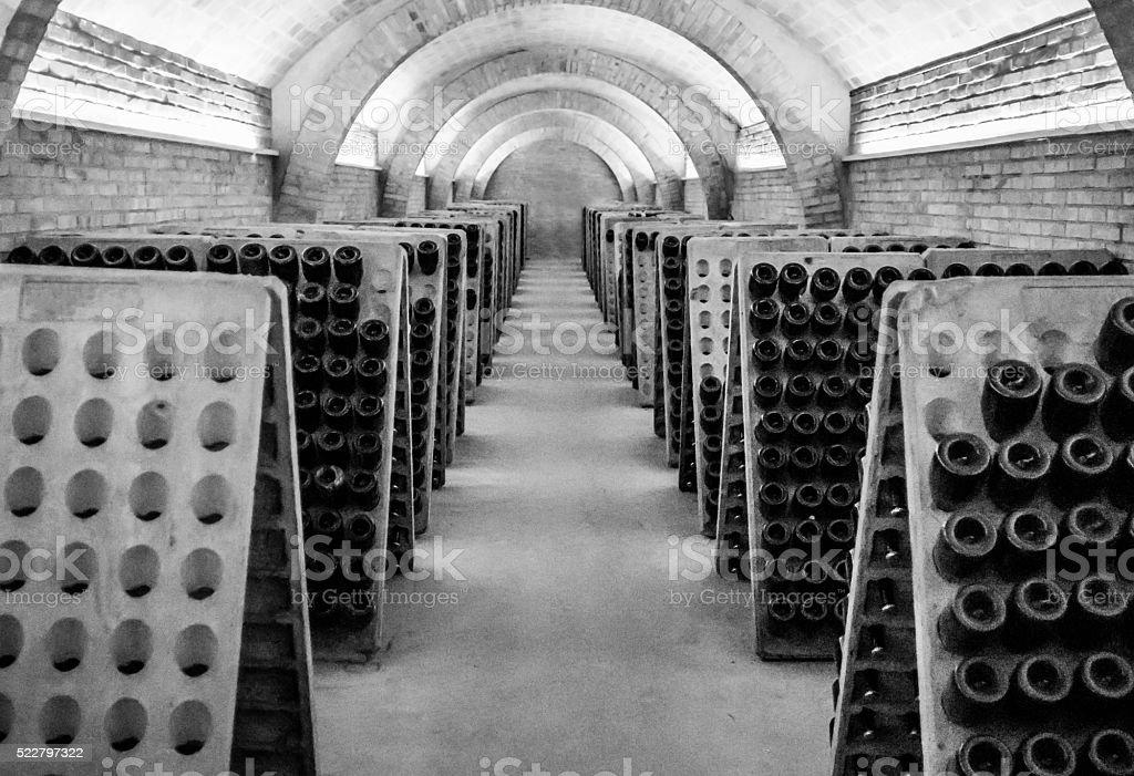 black and white cellar champagne cava wine unrecognizable dark nobody stock photo