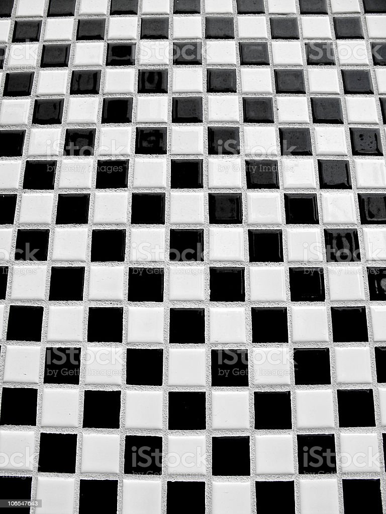 Black and white checkerboard tiles royalty-free stock photo