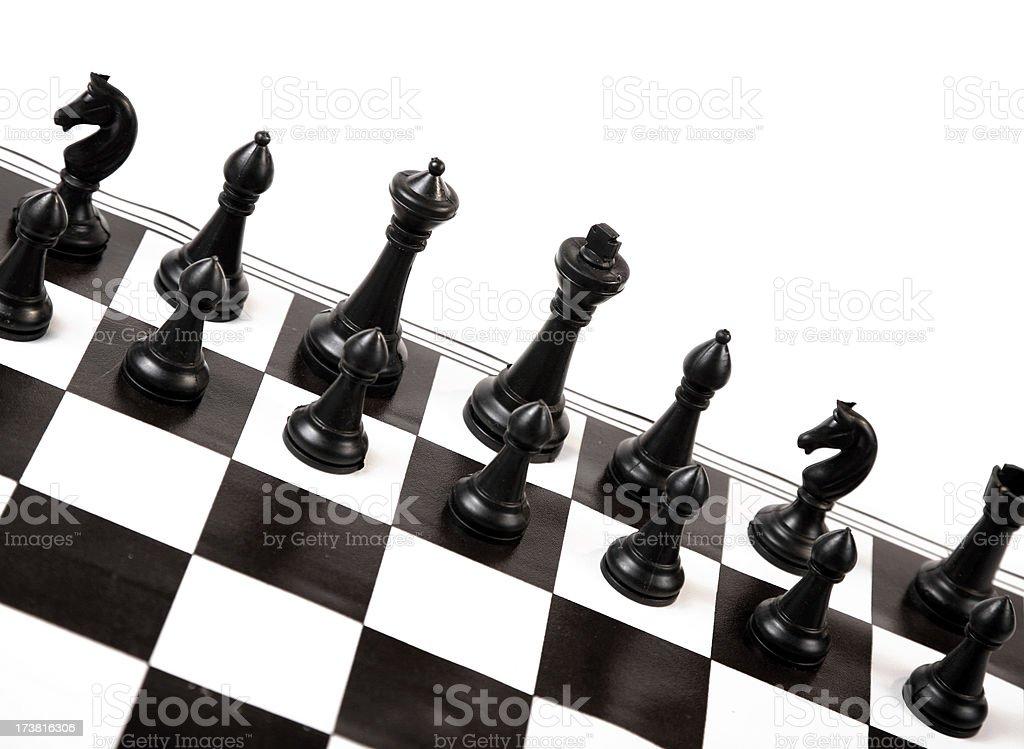 Black and white chess series stock photo