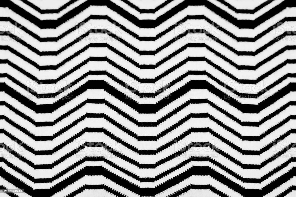 Black and white chevron pattern stock photo