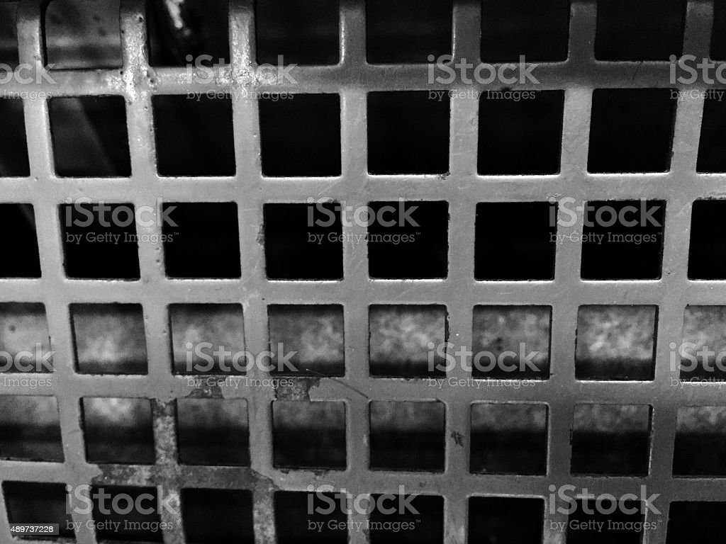 Black and White close up of steel grate royalty-free stock photo