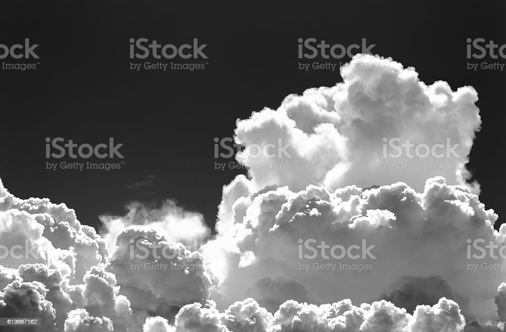 black and white clouds : smoke on sky stock photo