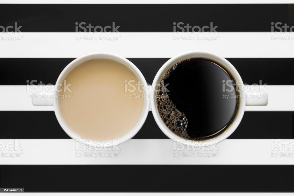 black and white coffee stock photo
