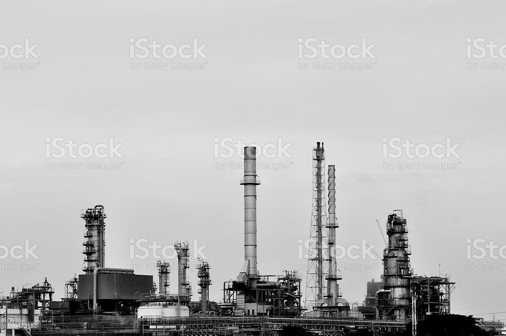 black and white color petroleum oil industrail park stock photo
