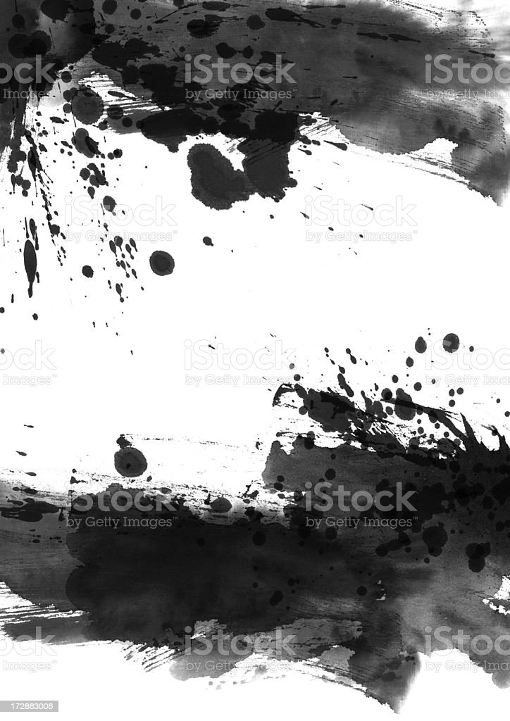 A black and white colored wash painting background royalty-free stock photo