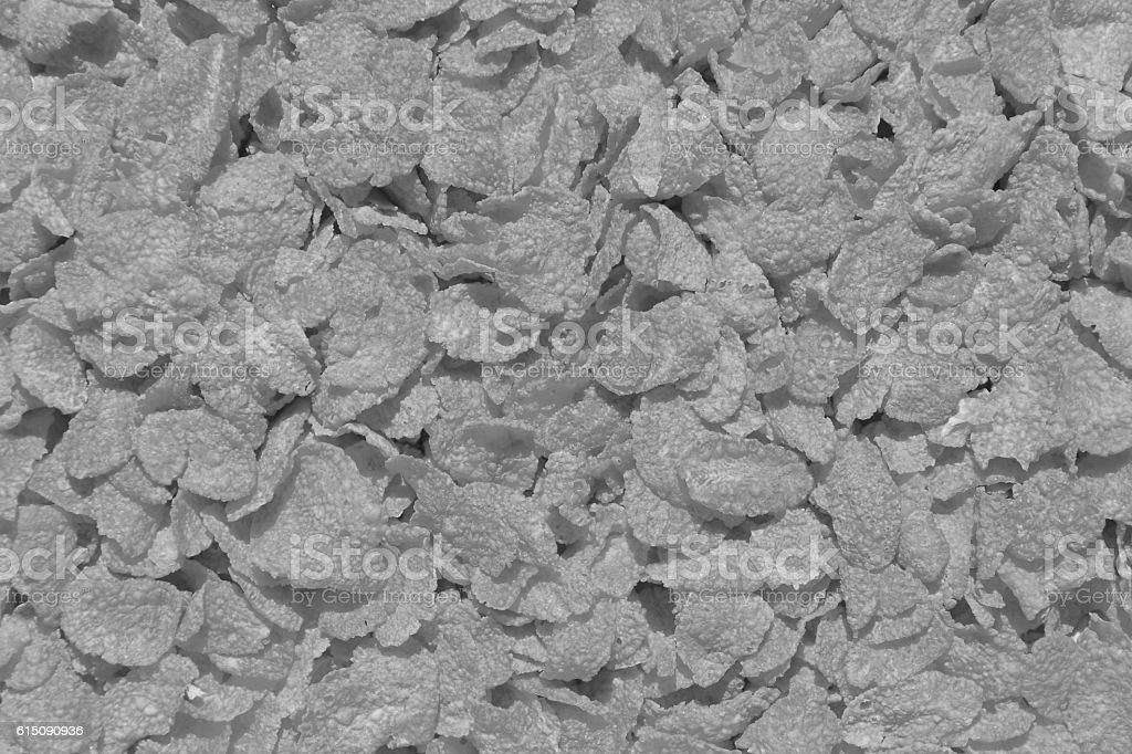 Black and white Cornflakes background stock photo