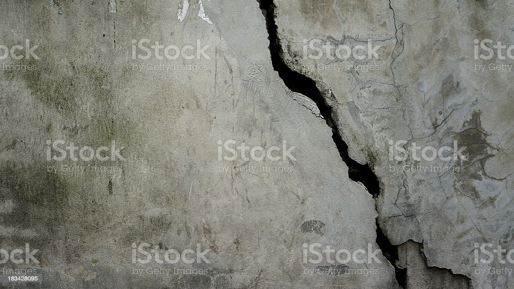 black and white cracked wall texture royalty-free stock photo