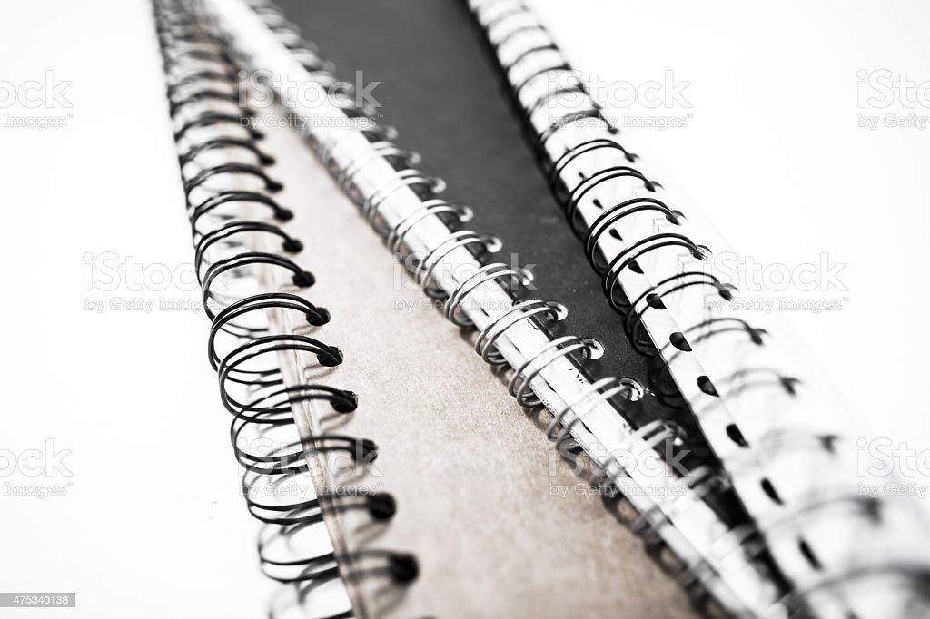 black and white diaries stock photo
