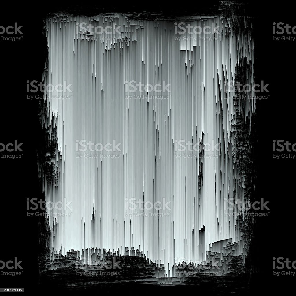 Black And White Digital Noise Texture Abstract Art Background stock photo