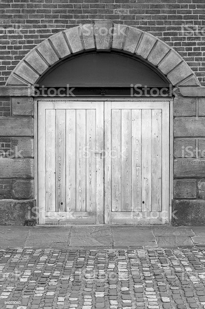 Black and white Doorway stock photo