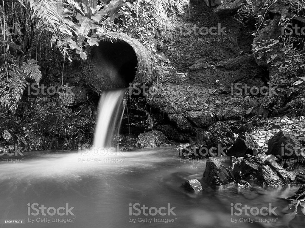 Black and White Drain stock photo