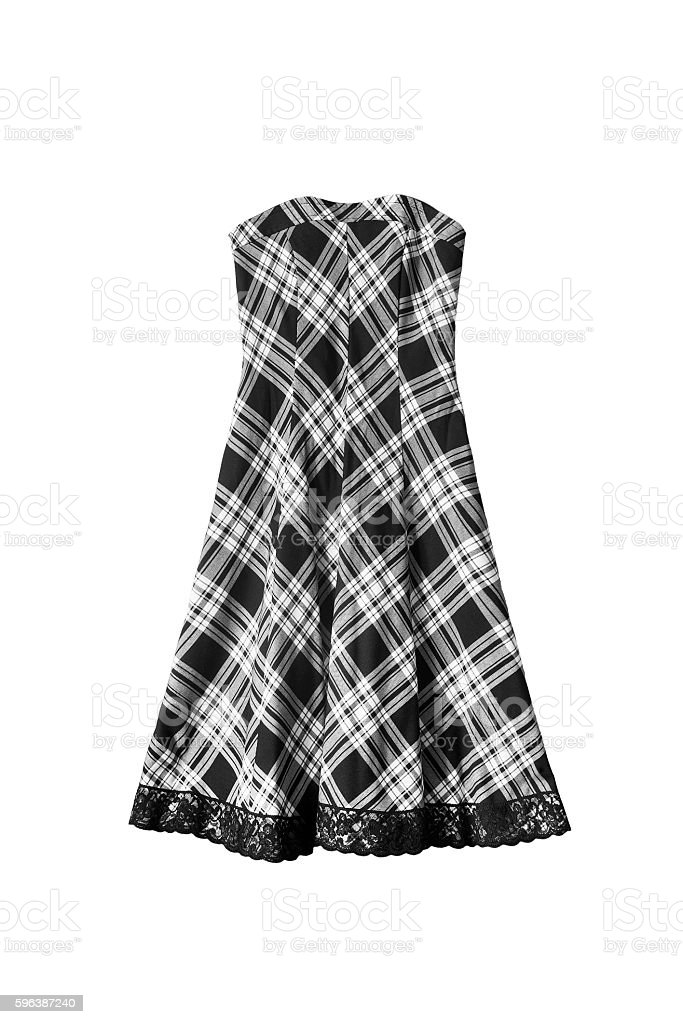Black and white dress stock photo