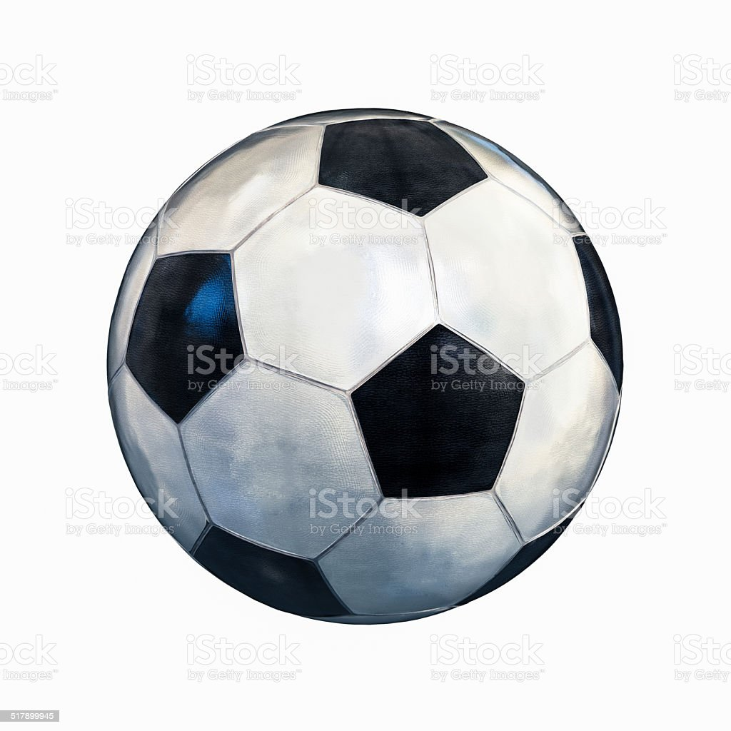black and white football stock photo