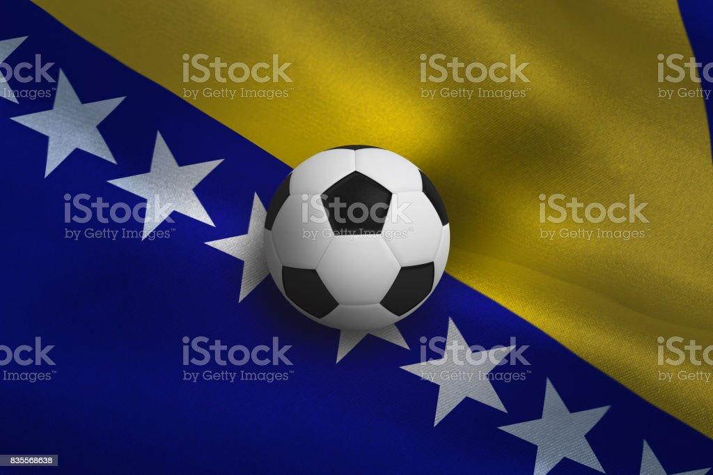 Black and white football stock photo
