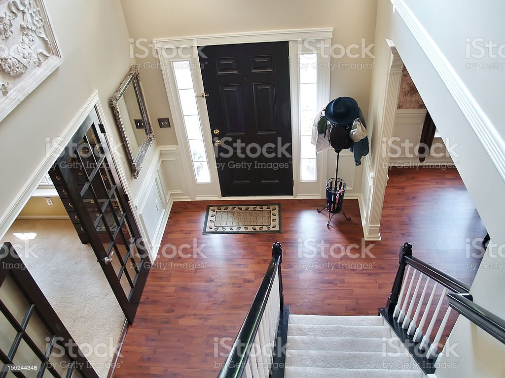 Black and White Foyer stock photo