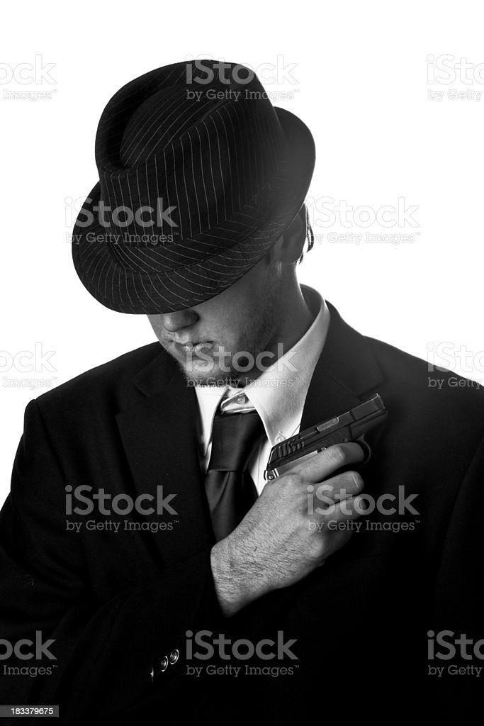Black and White Gangster royalty-free stock photo