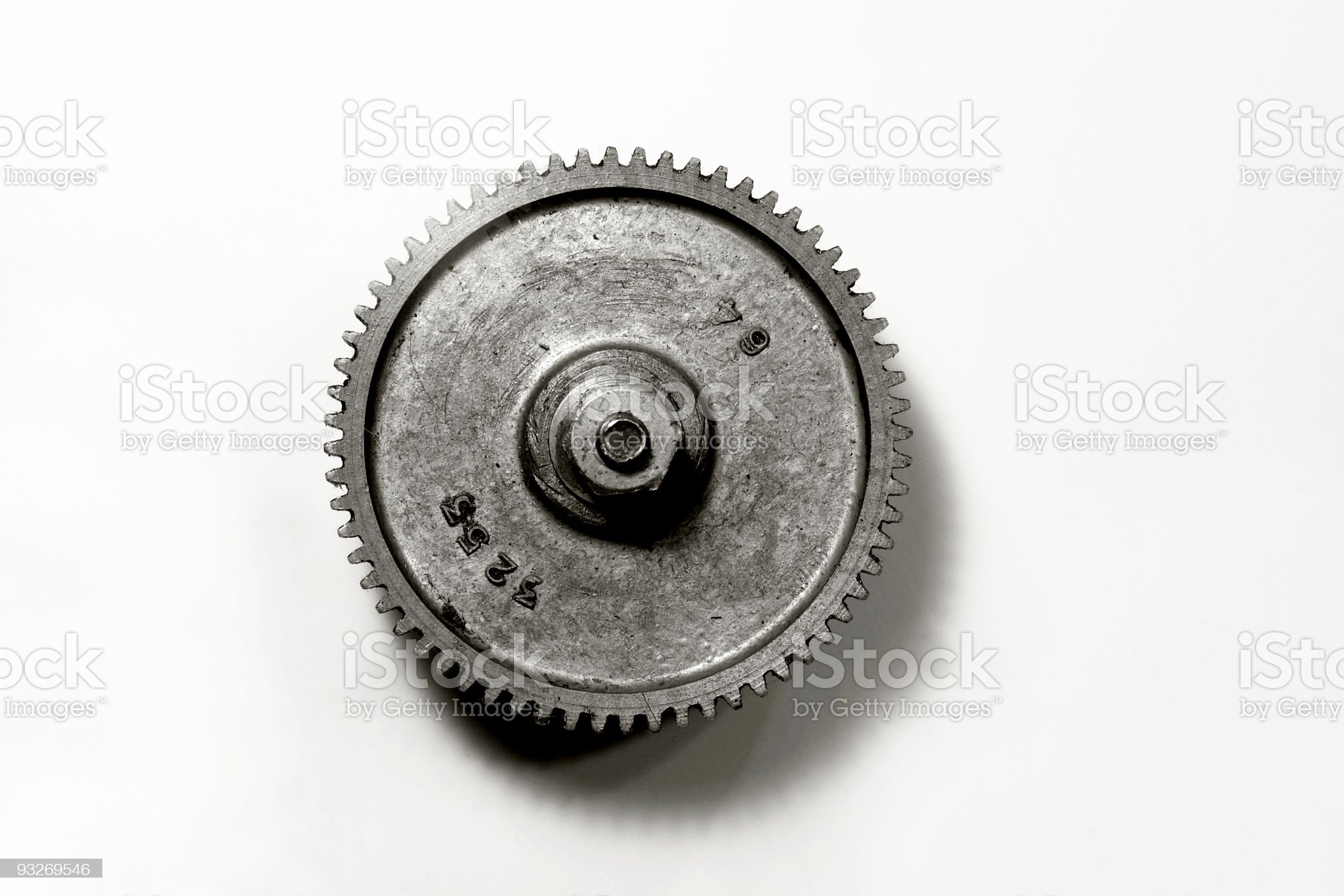 Black and White Gear royalty-free stock photo