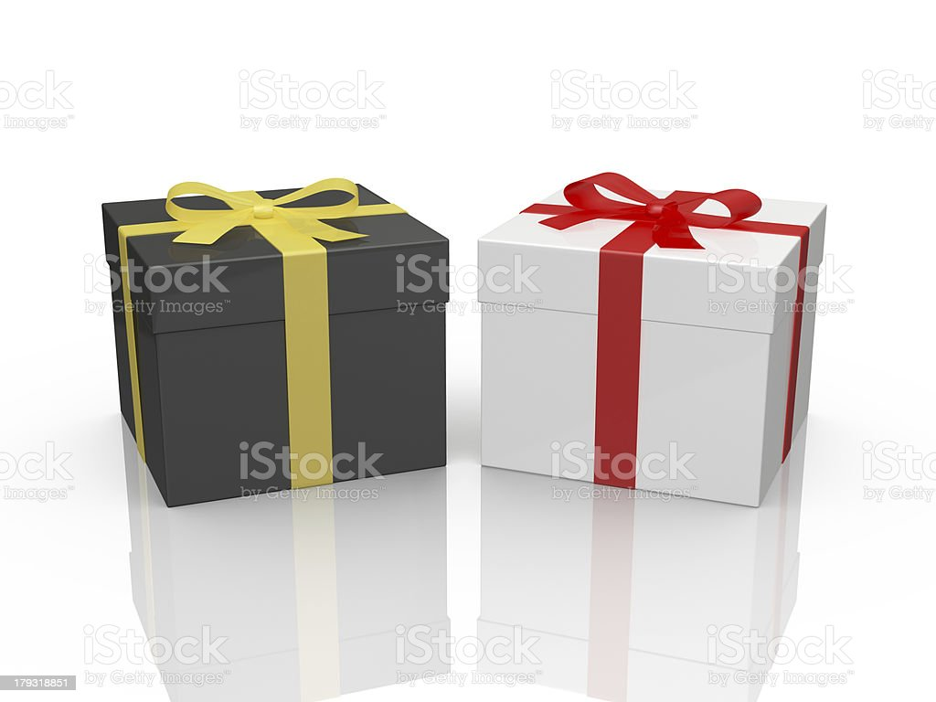 Black and White Gift Boxes royalty-free stock photo