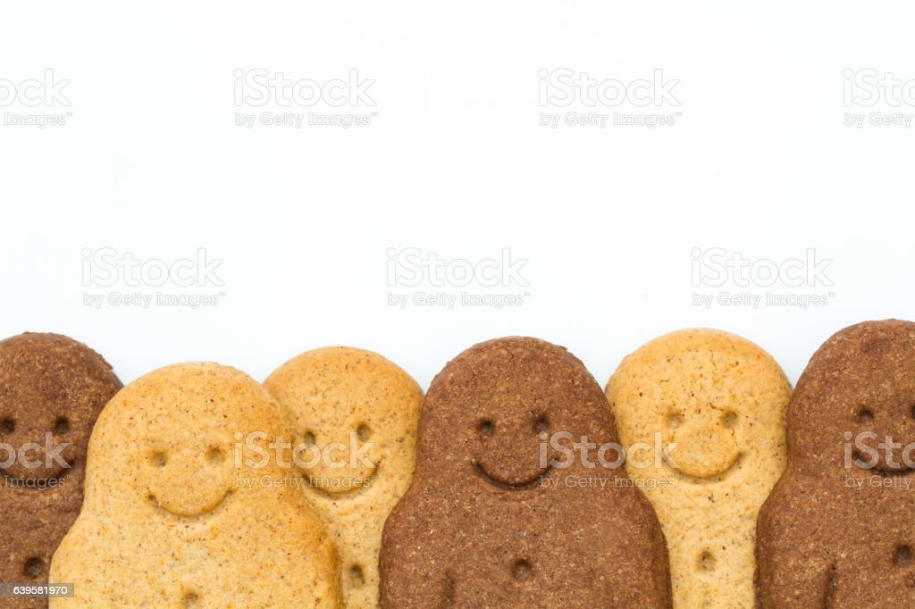 Black And White Gingerbread Men stock photo