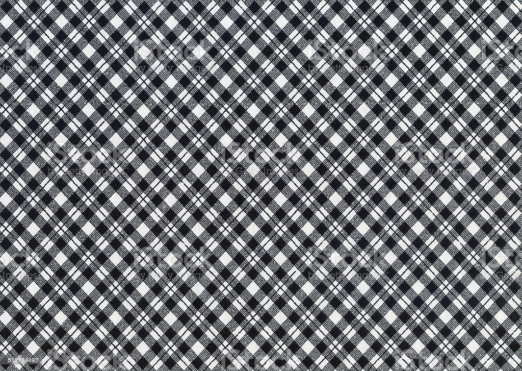Black And White Gingham Tablecloth Pattern Royalty Free Stock Photo