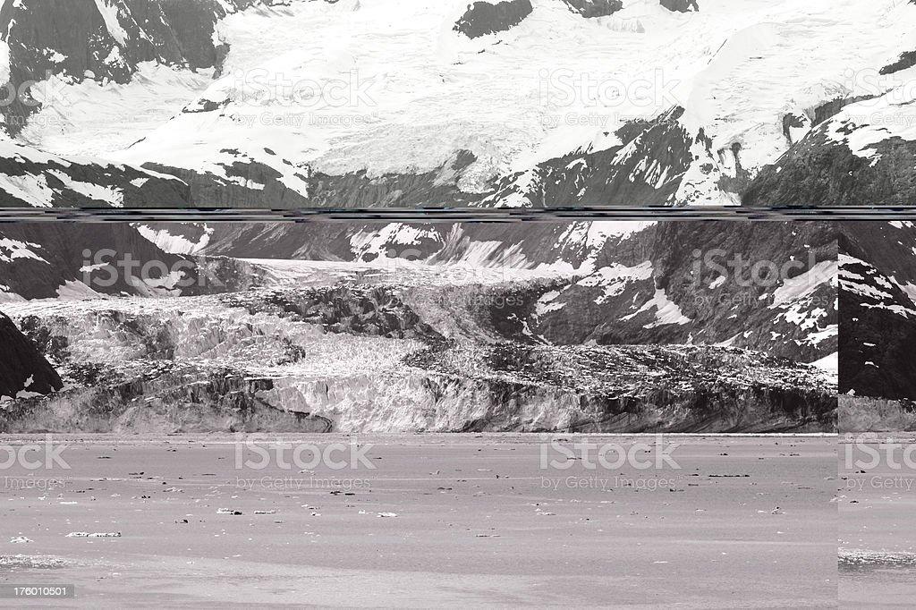 Ghiacciaio bianco e nero foto stock royalty-free