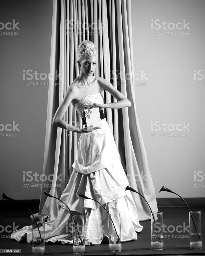Black and White Glamour royalty-free stock photo