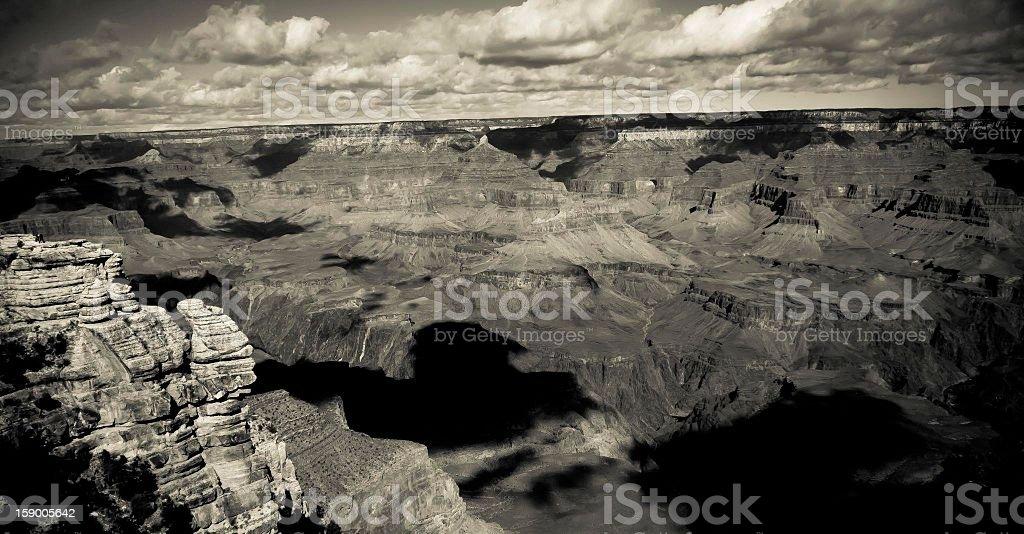 Black and white Grand Canyon stock photo