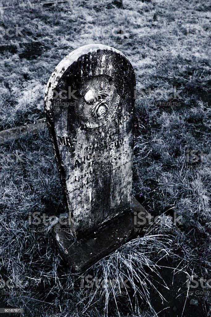 Black and White Gravestone royalty-free stock photo